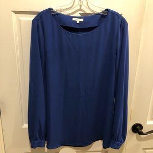 Pleione cobalt blue long sleeved blouse.